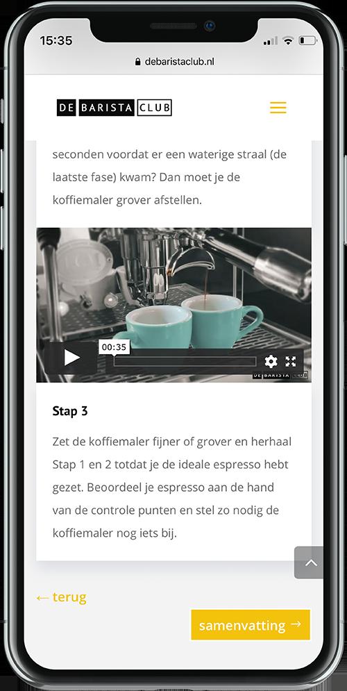 Phone e-learning